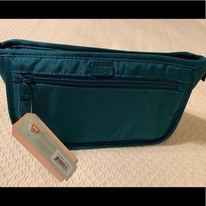 Lug Brushed Teal Parasail Cosmetic Case